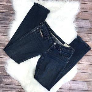 Diesel jeans 27 dark wash pants denim straight